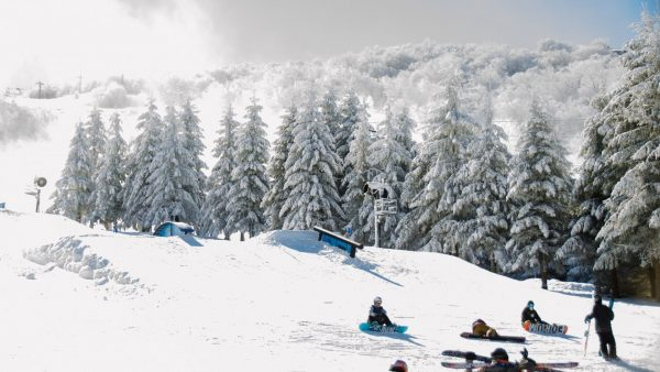 In the winter, Beech Mountain welcomes sledders of all ages.