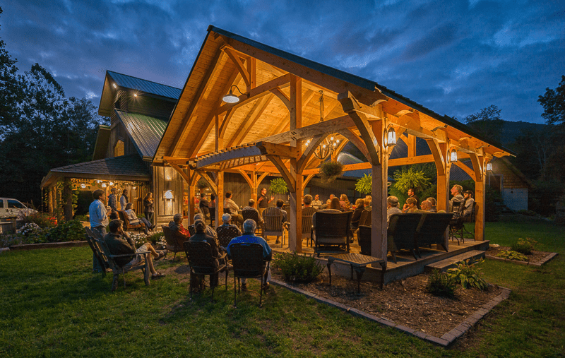 Under the lights at Grandfather Vineyard Winery in Watauga County