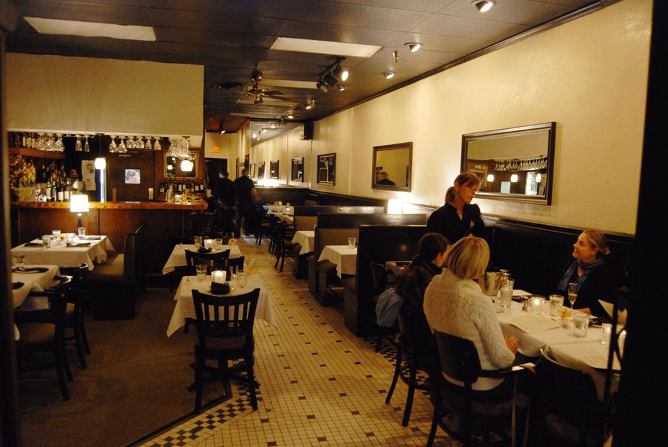 French restaurant Joy Bistro in downtown Boone