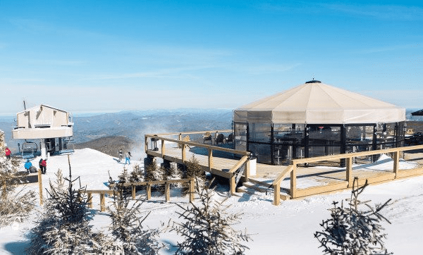 A View of the 5506' Skybar at Beech Mountain Resort