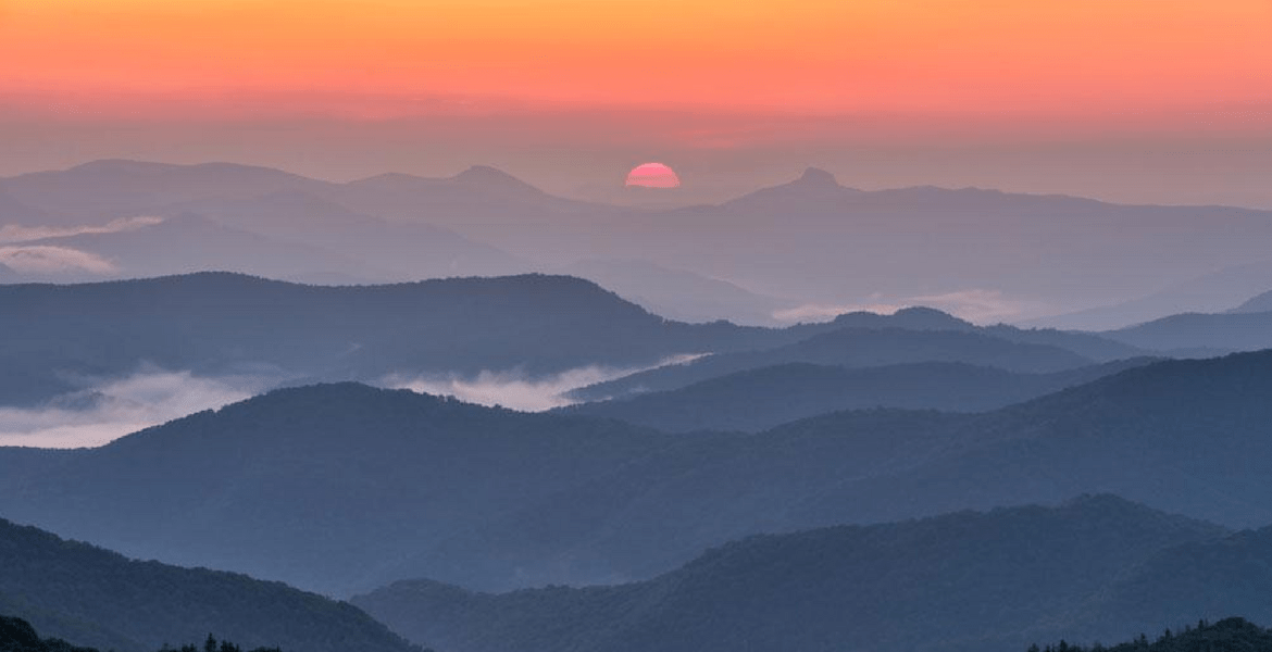 romantic sunset in the mountains of the High Country