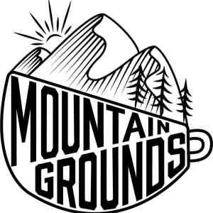 The logo for Mountain Grounds Coffee & Tea Co. in High Country