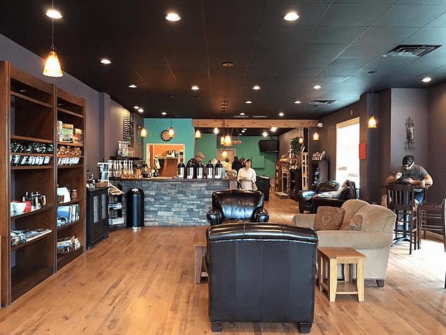 Mountain Grounds Coffee lobby area located next to Sugar Mountain